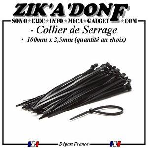 Collier-de-serrage-100-x-2-5mm-Noir-type-COLSON-RILSAN-Qte-au-choix