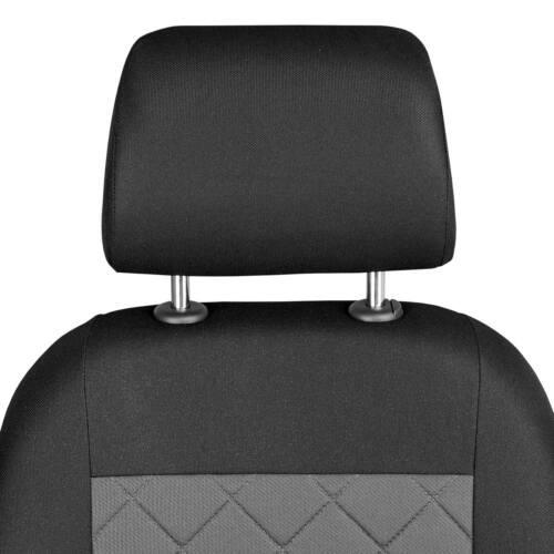 Negro-gris fundas para asientos para Dacia Duster asiento del coche delante de referencia