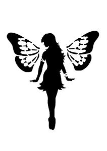 """Galería de símbolos /""""hada con alas/"""" en a4"""