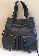 NWOT W.H. PETRONELA Genuine Ostrich Drawstring Shoulder Bag Handbag