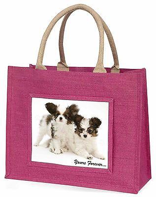 Papillon Hunde dir für immer Große Rosa Einkaufstasche Weihnachten Geschenk,