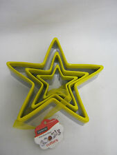 New Eddingtons Star Biscuit Pastry Cookie Metal Cutters Set Of 3 Stars 853021