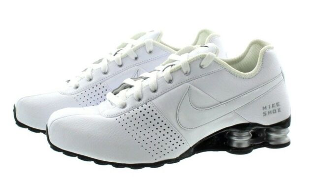 e08b702d4cc198 Nike Shox Deliver Shoes Men s Size 8.5 - White Black Silver Running ...