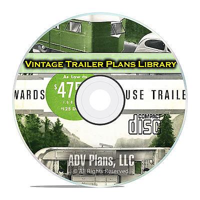 63 Antique Trailer Building Plans, Tear Drop Camper Plans and Guides PDF CD E72