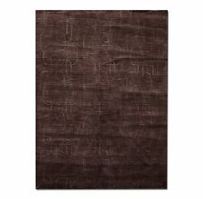 5x8 Hand Loomed Rug Carpet Modern Wool NWT Dark chocolate