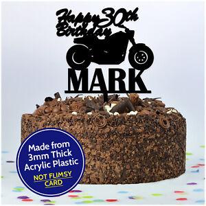 Motorbike-Cake-Topper-PERSONALISED-Any-NAME-Biker-Birthday-Cake-Decoration-Gold