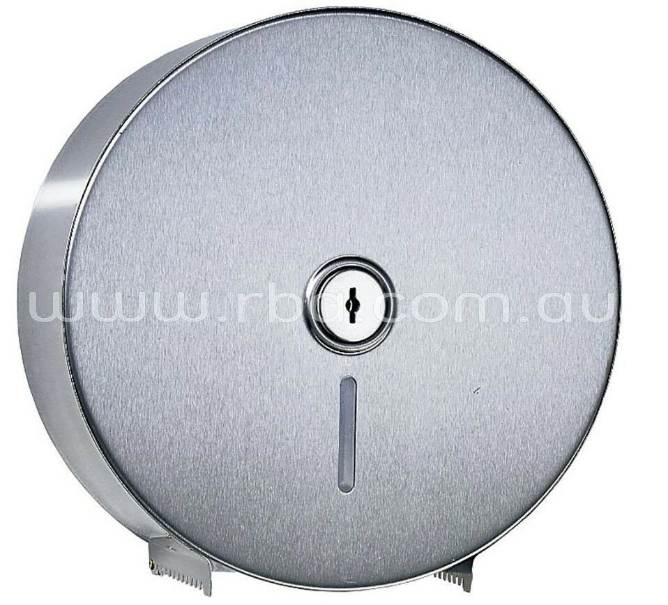 RBA JUMBO TOILET ROLL HOLDER Rounded Serration, Stainless Steel