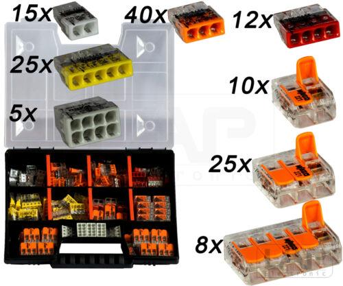 WAGO Sortimentbox Set Variobox Wagoklemmen Box Hebelklemmen140 Stück