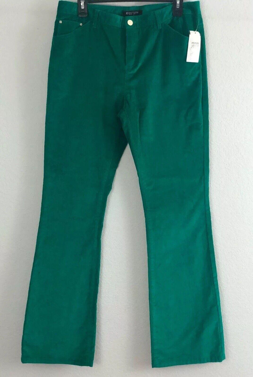 """185 Etcetera """"Giselle"""" Women's Corduroy Pants Sz 10 Cotton Spandex 34x34 NEW E3"""