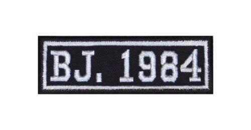 Anno di costruzione 1984 Biker Patch ricamate anni numero anno di nascita ROCKER MOTO MC BJ