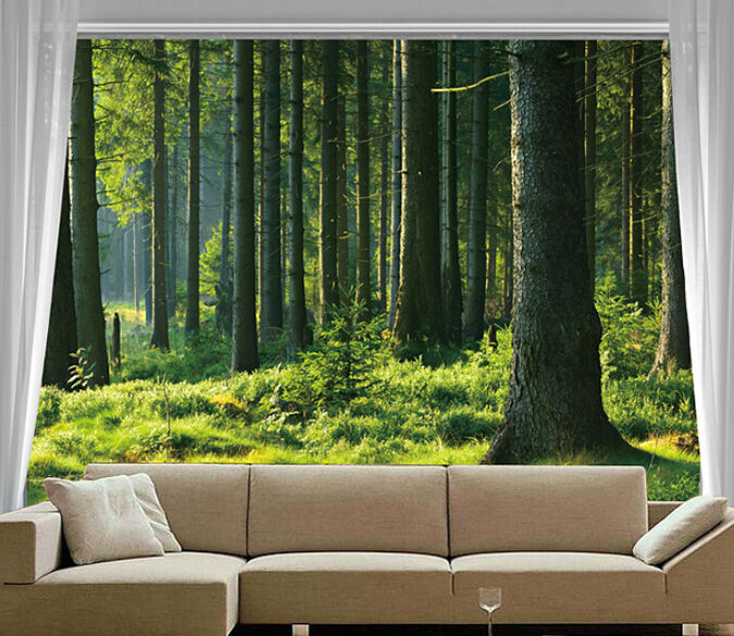 3D Forest tree photo 5219 Paper Wall Print Decal Wall Wall Mural AJ WALLPAPER GB