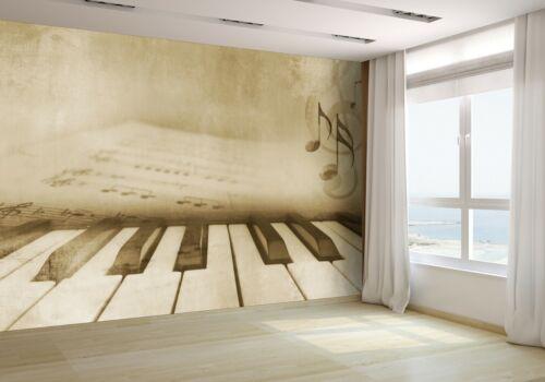 Piano Keys and Sheet Music Wallpaper Mural Photo 12604311 premium paper