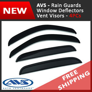 Auto Ventshade 94145 Original Ventvisor Side Window Deflector Dark Smoke 4-Piece Set for 1998-2002 Mazda 626