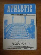 30/12/1978 Wigan Athletic v Aldershot [1st League Season] (Creased, Folded, Scor