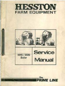 hesston baler 5540 5580 rounder workshop service manual ebay rh ebay co uk hesston 5670 round baler manual New Hesston Square Baler