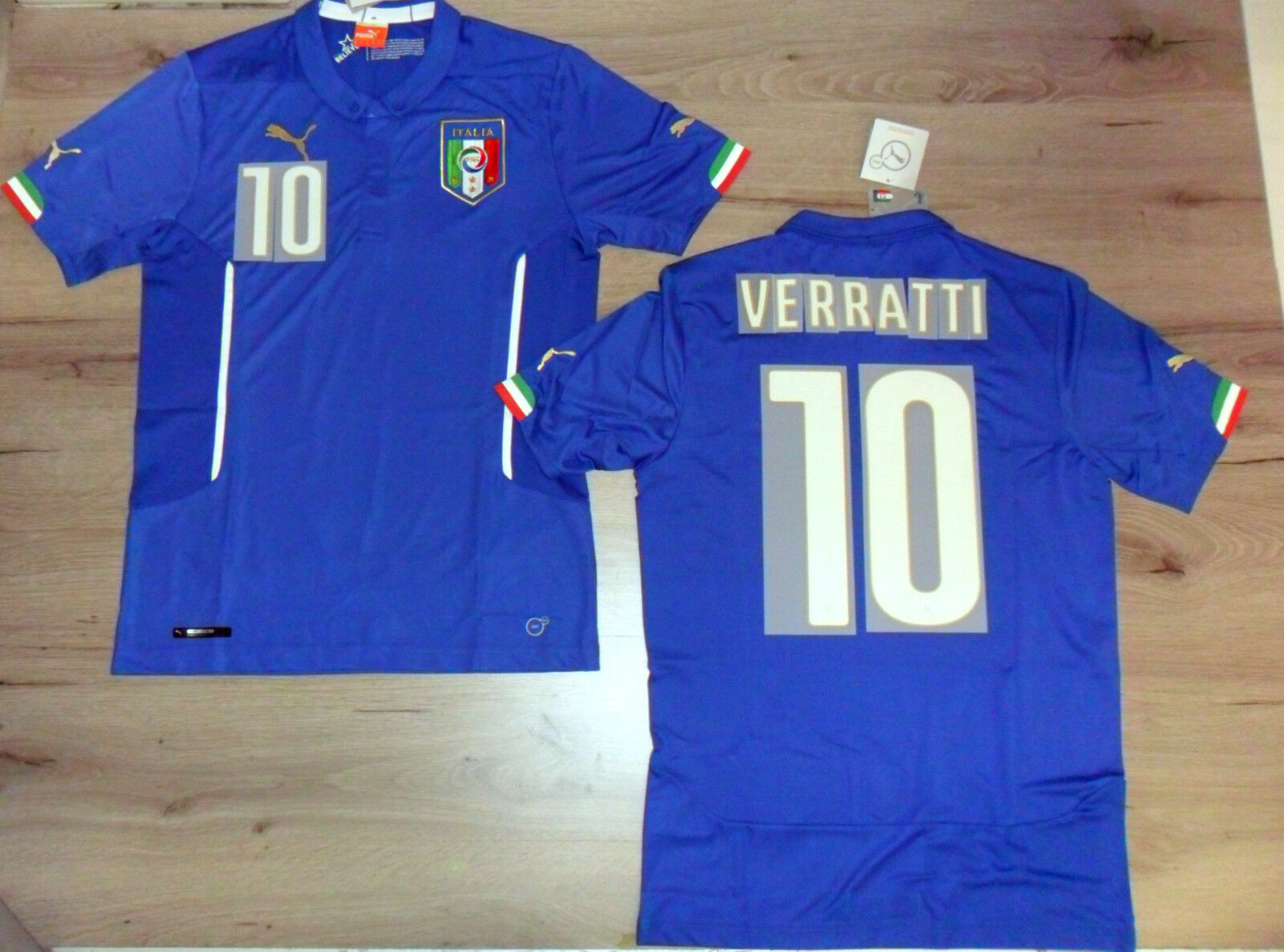 FW14 PUMA S HOME ITALY 10 VERRATTI T-SHIRT WORLDWIDE SHIRT JERSEY