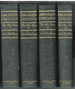 Abraham-Lincoln-The-War-Years-by-Carl-Sandburg-1939-17th-Pr-Civil-Books