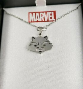 MARVEL GUARDIANS OF THE GALAXY ROCKET RACCOON NECKLACE  STAINLESS STEEL