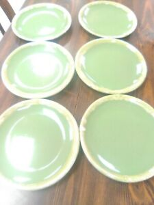 6-Vintage-Hull-dessert-plates-6-1-2-034-oven-proof-nice-condition