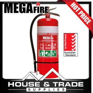 Megafire Fire Extinguisher Portable 9kg Powder High Performance Mf9abem