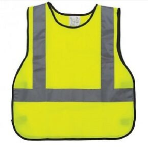 Image is loading Brand-New-Yellow-Safety-Vest-For-Kids-High-  sc 1 st  eBay & Brand New Yellow Safety Vest For Kids High Visability Construction ...