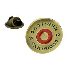 12 Gauge Shotgun Cartridge End Metal Pin Badge hunting shot gun musket AJTP102