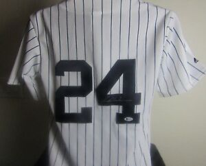 the latest 3ec75 d02ea Details about RICKEY HENDERSON AUTOGRAPHED SIGNED NEW YORK YANKEES JERSEY  BECKETT COA