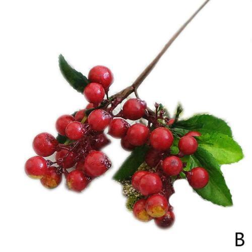Artificial Blueberries Fake Mini Berries Fruits Flower Table De Plants I0C6