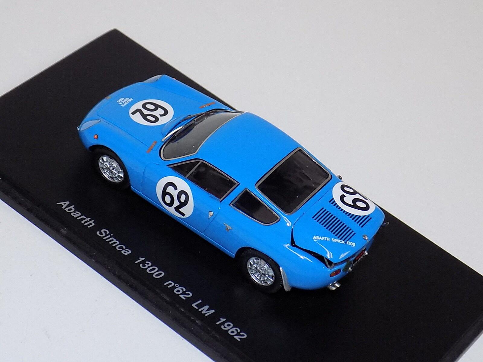 1 1 1 43 Spark Abarth Simca 1300 Car Hours of LeMans 1962  S1307 2e7336