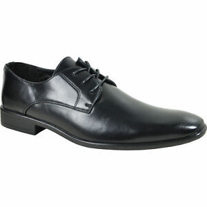 BRAVO-KING-1-Dress-Shoe-Classic-Oxford-Leather-Lining-Black-Matte
