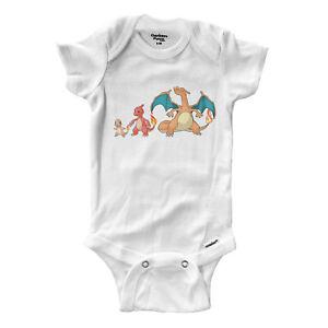 Infant-Gerber-Onesies-Bodysuit-Baby-Clothes-Print-Anime-Char-mander-meleon-izard