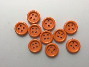 10 En Bois Orange Boutons, 15 Mm. Couture, Artisanat, Tricot-afficher Le Titre D'origine à Tout Prix