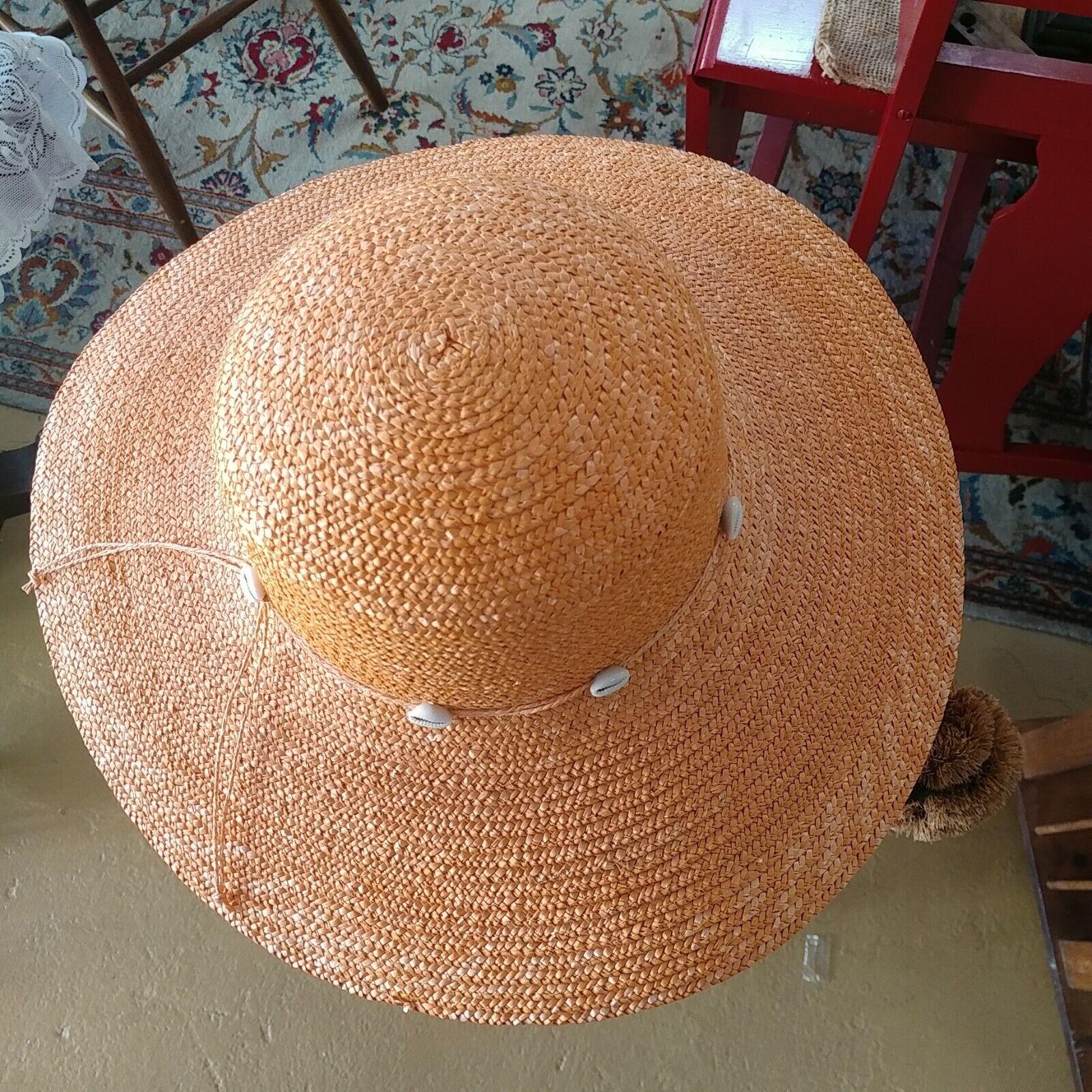 DP Brand Wide Brim Straw Hat - image 3