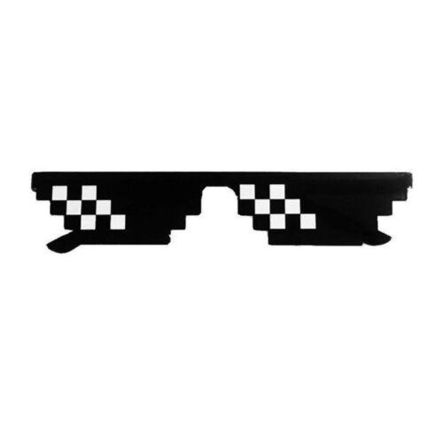 Women Men Eye Glasses Thug Life 8 Bit Pixel Glasses Sunglasses Eyewear With IT