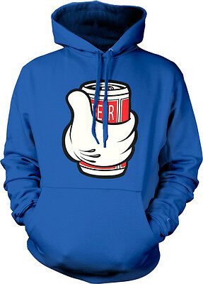 Beer White Gloved Hand Holding Can Drunk Party Thumb Get Go Of Hoodie Sweatshirt