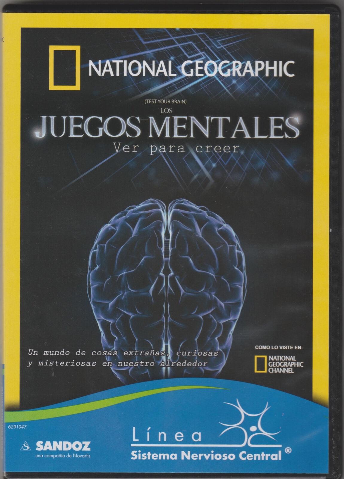 National Geographic Juegos Mentales Ver Para Creer (dvd) Sandoz ...