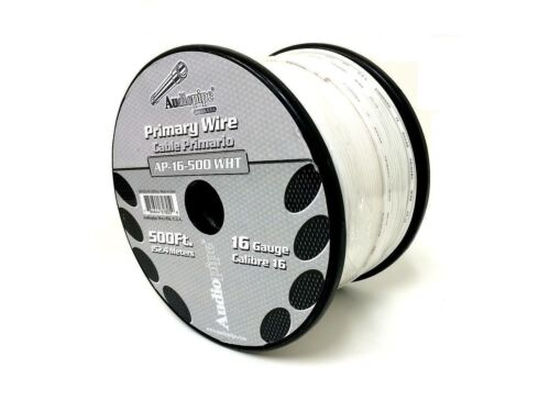 6 Rolls Audiopipe 500/' Feet 16 Gauge Primary Remote Wire Auto Power Cable