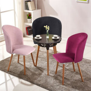 Image Is Loading Fabric Accent Armchair Velvet Dining Chair Kitchen Seat