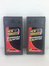 2x 9.6V NiMH New Bright Battery Pack 9.6 Volt