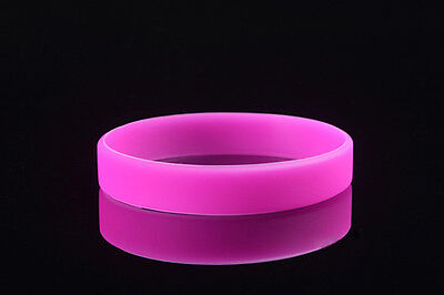 Modish Silicone Rubber Elastic Wristband WristBand Cuff Bracelet Bangle NEW HFCA