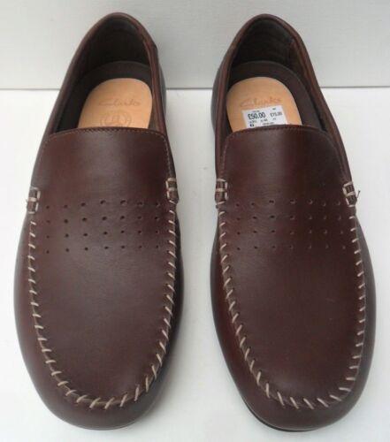 para Clarks cuero Tamaño de M 5 Zapatos Trigenic sin 9 Eur G Reino marrón 44 hombre cordones Unido yWtXc10cq