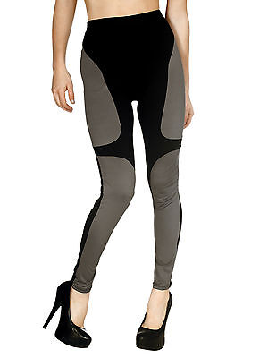 New Womens Stretchy Breathable Color Block Work Out Pants or Fashion Leggings