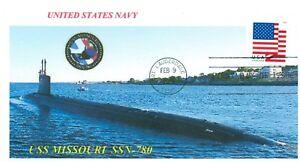 Uss-Missouri-SSN-780-USN-Sottomarino-Colore-Foto-Cacheted-Navale-Primo-Giorno