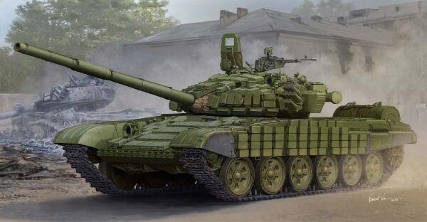 Russische t-72b   b1 co w   kontakt-1 reaktive panzerung tank - kit 1 modell 5599