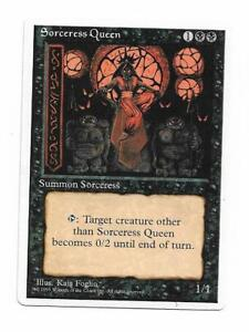 Magic the gathering ~  Sorceress Queen ~ Alternate 4th Edition ~ SCANS ~ M/NM