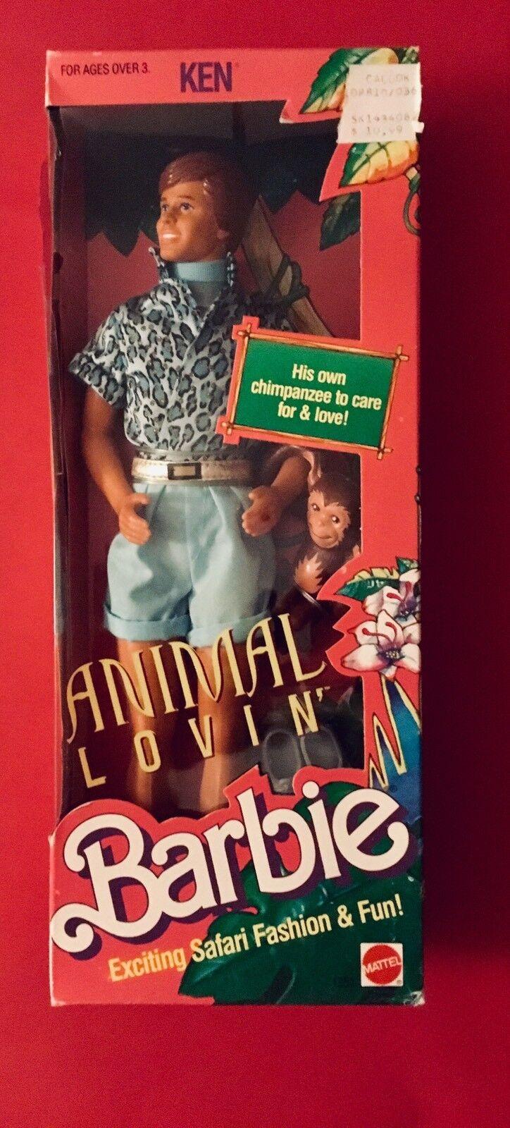 BARBIE  ANIMAL LOVIN' KEN DOLL NRFB 1988