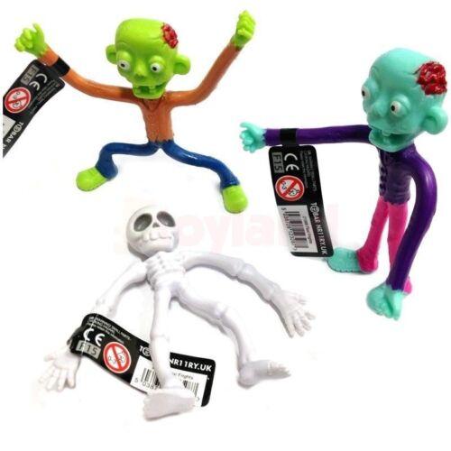 Flexi Horreur Zombie Squelette Jouet Garçon Halloween Cadeau Noël Stocking Filler