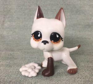 Littlest-Pet-Shop-LPS-WHITE-GREAT-DANE-DOG-BROWN-EYES-750-LPS