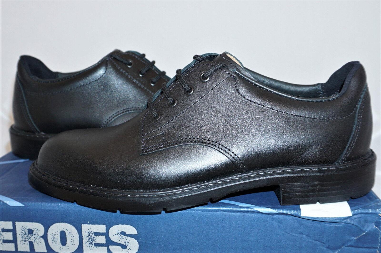 Haix Office Leder UK 7 EU 41 US 8 Polizei Leder Schuhe Büro NEU