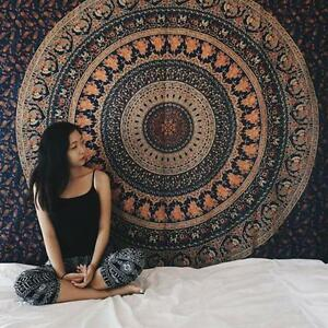 Indian Tapestry Wall Hanging indian hippie tapestry wall hanging elephant mandala bedspread